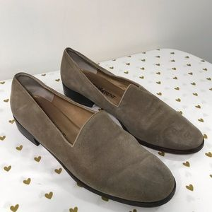 Yves Saint Laurent YSL Vintage Suede Loafers - 9.5